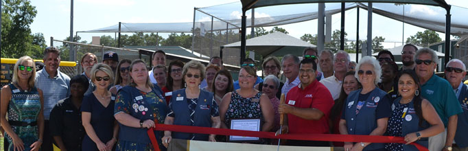 Little League Shade Structures Ribbon Cutting