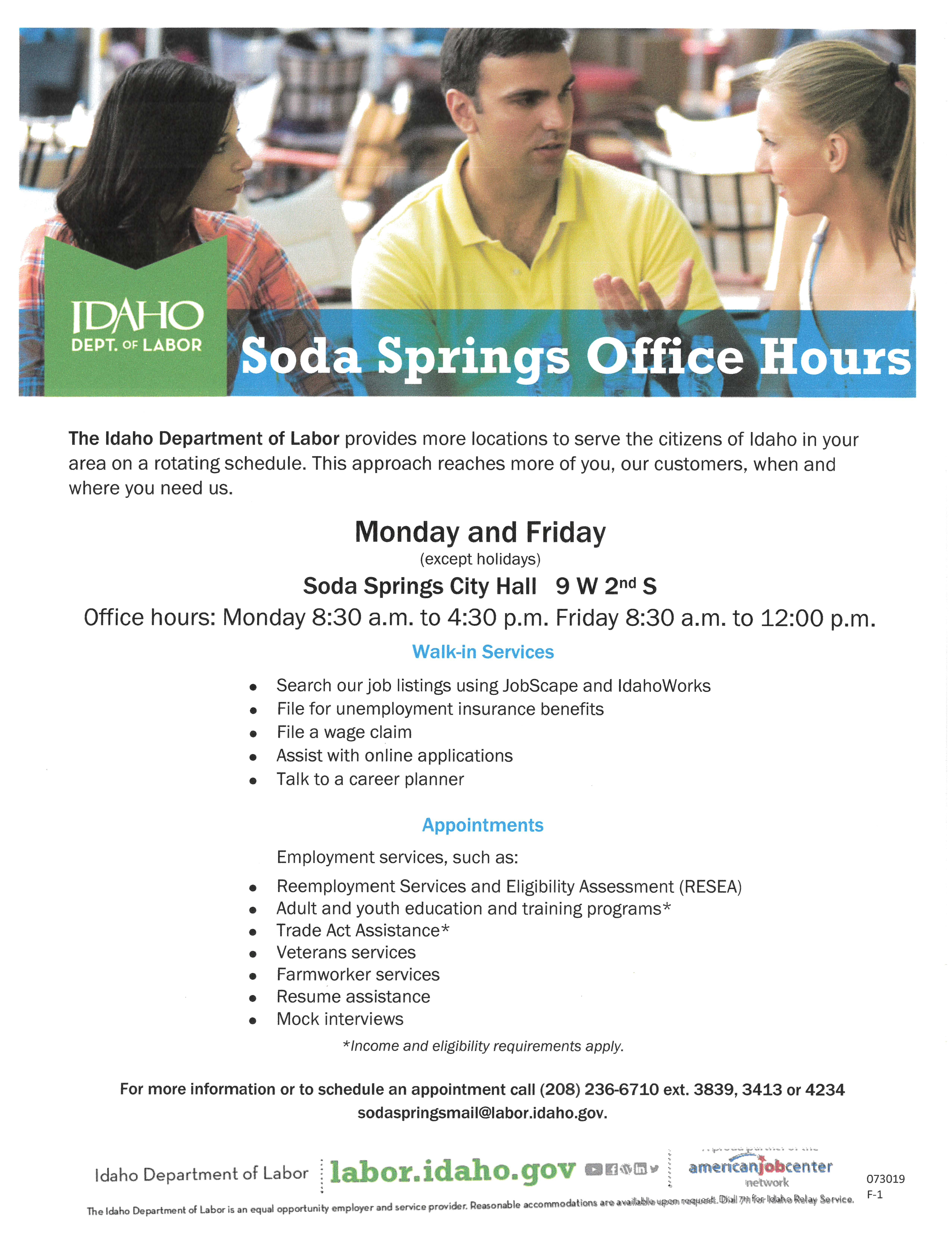 DEPT OF LABOR HOURS