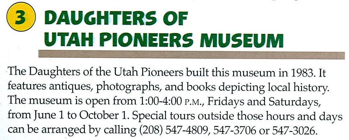 3 Daughters of Utah Pioneers Museum