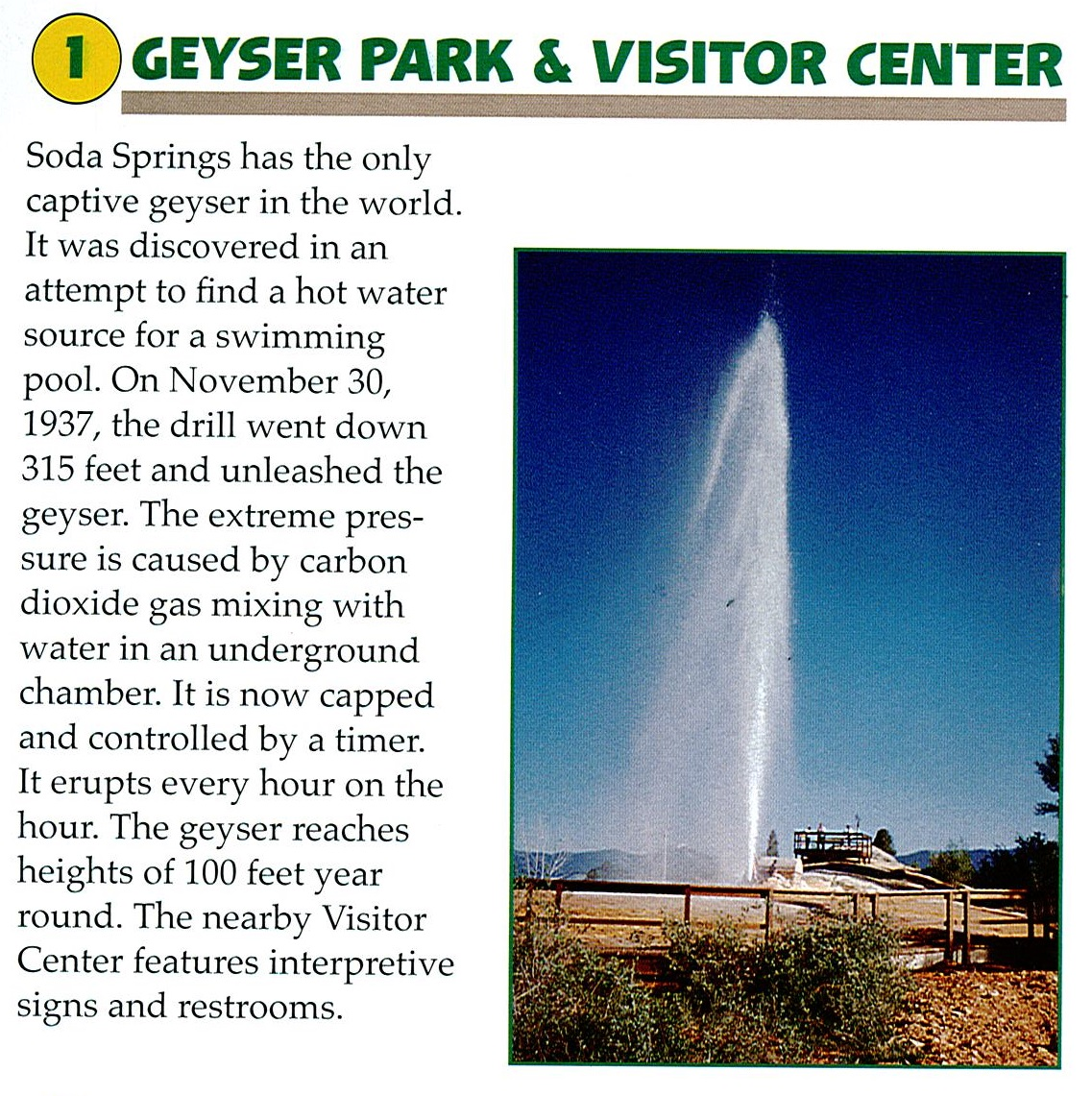 1 Geyser Park and Visitor Center