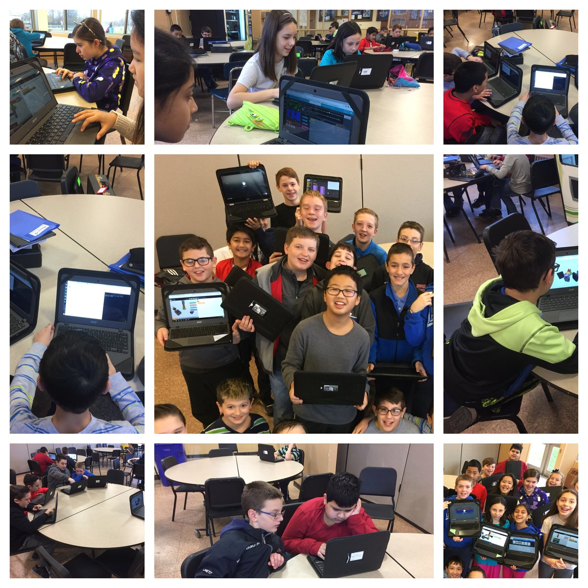 Mill hour of code students
