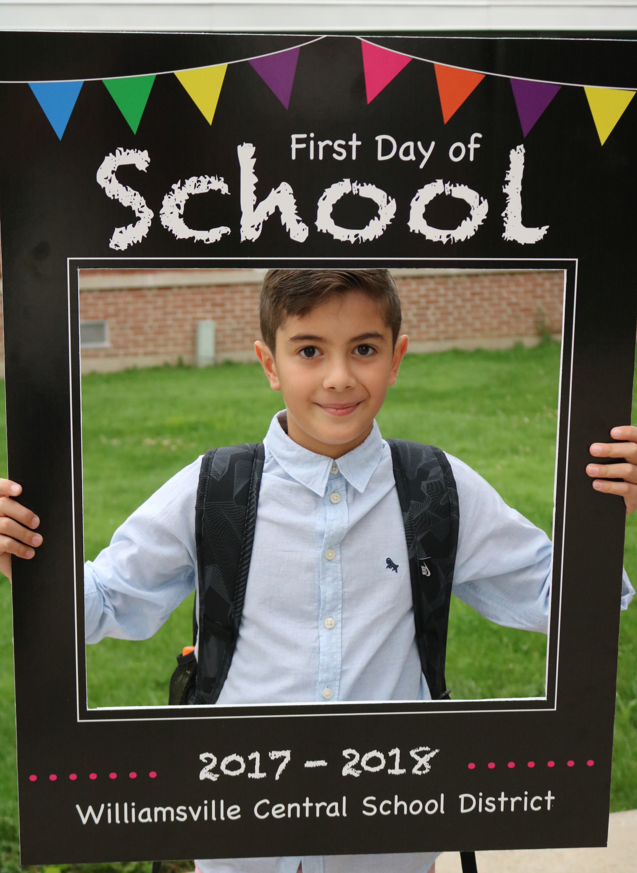 Elementary student 1st day of school
